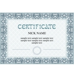 Certificate diploma for print vector