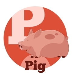 Abc cartoon pig vector