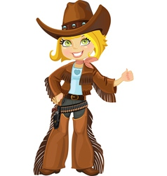 Cowgirl with colt vector
