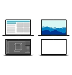 Set of computers with different screens vector