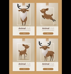 Animal banner with deers for web design 1 vector