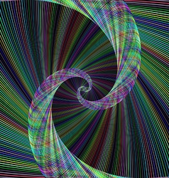 Abstract colorful spiral fractal background vector