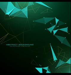 Abstract triangle poly background in futuristic vector
