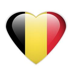 Belgium flag button vector image