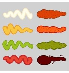 Color smears vector