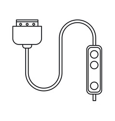 computer cable connection plug thin line vector image