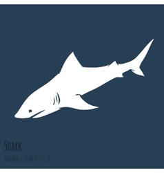 Danger Shark silhouettes set vector image vector image