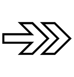 Direction right thin line icon vector