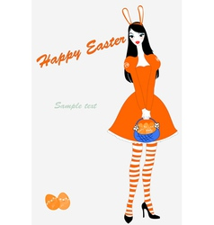 easter gteeeting card vector image vector image