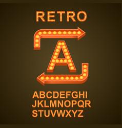 Font bulbs art sign abc vector