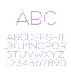 Font grotesque inline thin vector