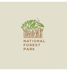 Forest national park logo vector image vector image