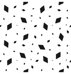 Geometric grunge seamless pattern of black rhomb vector