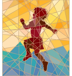 Happy girl mosaic vector