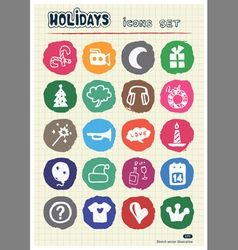 Holidays and celebration web icons set vector image vector image