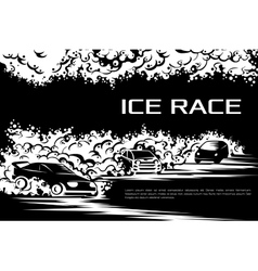 Ice race card vector