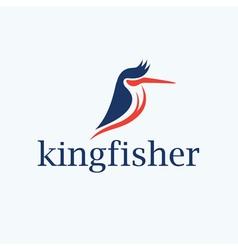 Kingfisher bird design template vector image