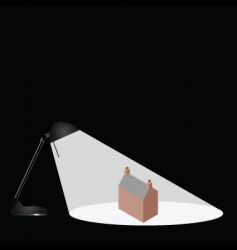 lamp house vector image vector image