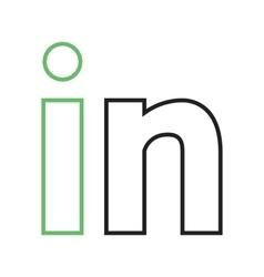 LinkedIn vector image vector image