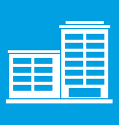 Manufacturing factory building icon white vector