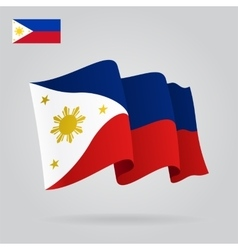 Philippines waving flag vector