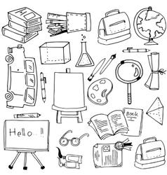 School education object doodles vector