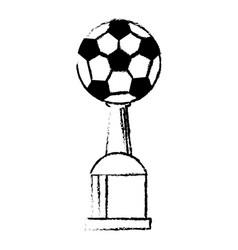 soccer award cup sport win vector image
