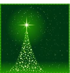 square green Christmas tree vector image vector image