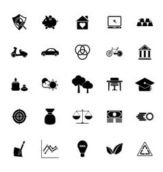 Sufficient economy icons on white background vector image vector image
