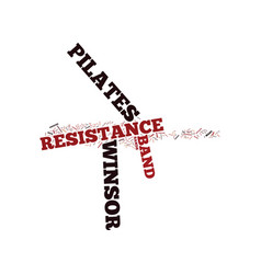 The power of winsor pilates resistance band text vector