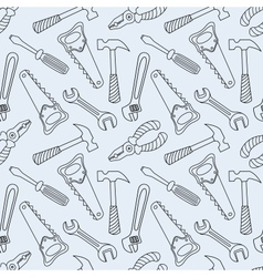 Tools seamless line pattern vector image