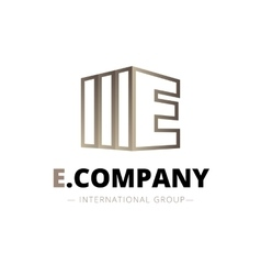 trendy isometric E letter logo vector image vector image