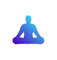 yoga icon symbol vector image