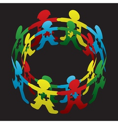 Child autism circle of hope vector