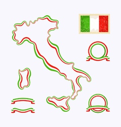 Colors of italy vector