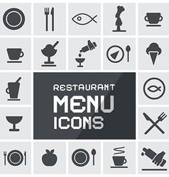 Flat Design Restaurant Menu Icons Set vector image