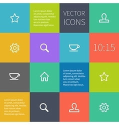 Colour square infographics with icons vector