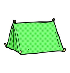 Comic cartoon traditional tent vector