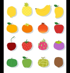 Set of fruit healthy food vector