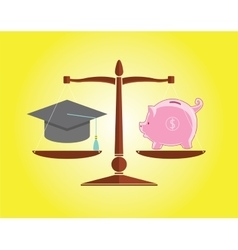 Education and money vector
