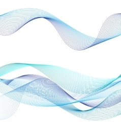 Graphic blue waves vector