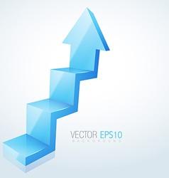 abstract 3d arrow design vector image vector image
