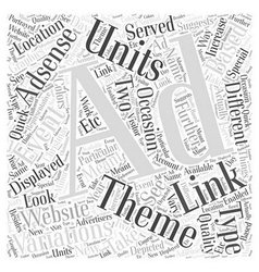 Adsense ad variations link units and themed ad vector