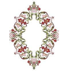 Antique ottoman turkish pattern design thirty six vector