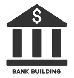 Bank building icon with caption vector