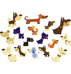 Big Dogs Collection vector image vector image