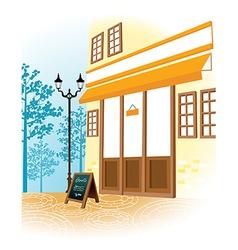 Cafe shopfront scene vector