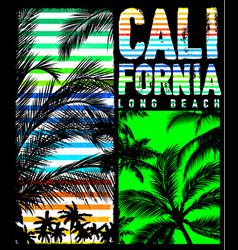 California beach typography tee graphic design vector