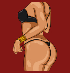 cartoon sexy woman body template vector image vector image