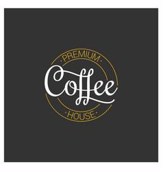 coffee logo on dark background vector image